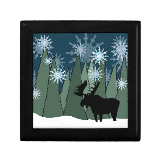 Moose in the Snowy Forest Gift Box
