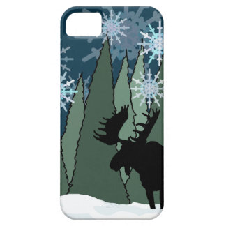Moose in the Snowy Forest iPhone 5 Covers