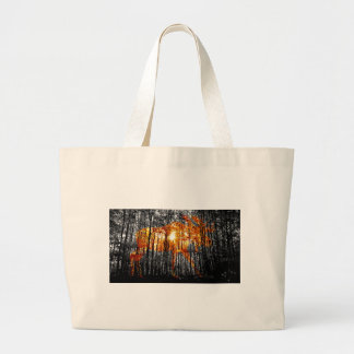 Moose in the Trees Large Tote Bag