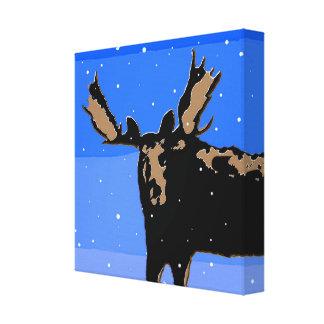 Moose in Winter Canvas Print