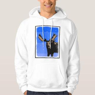 Moose in Winter Hoodie