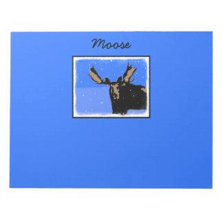 Moose in Winter Notepad