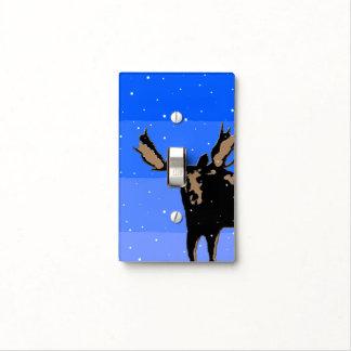 Moose in Winter  - Original Wildlife Art Light Switch Cover