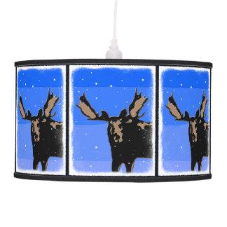 Moose in Winter Pendant Lamp