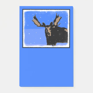Moose in Winter Post-it® Notes