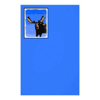 Moose in Winter Stationery