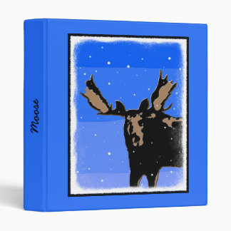 Moose in Winter Vinyl Binders
