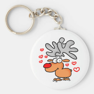 Moose key supporter keychain
