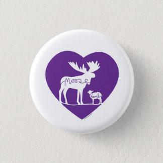 Moose Lamb Love 1 Inch Round Button