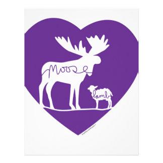 Moose Lamb Love Letterhead