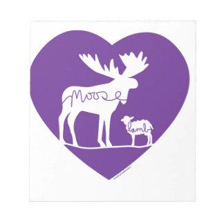 Moose Lamb Love Notepad