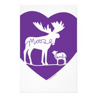 Moose Lamb Love Stationery Design
