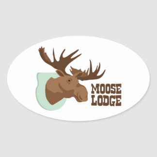Moose Lodge Oval Sticker