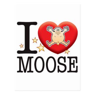 Moose Love Man Postcard
