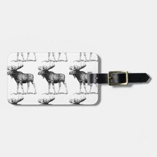 moose mess luggage tag