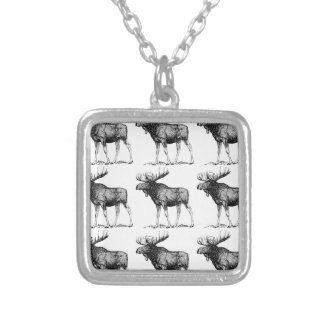 moose mess silver plated necklace