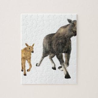 Moose Mom & Baby Puzzles
