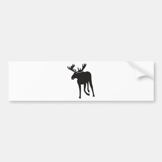 Moose moose elk deer more antler sweden bumper sticker