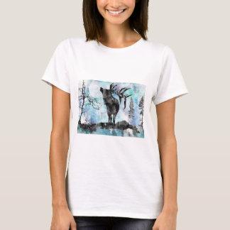 Moose, moose print, watercolor moose T-Shirt