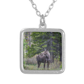 Moose Mother Silver Plated Necklace
