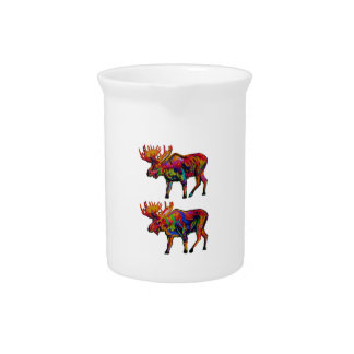 MOOSE OF TWO BEVERAGE PITCHERS
