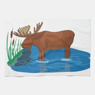 Moose on The Loose Kitchen Towel