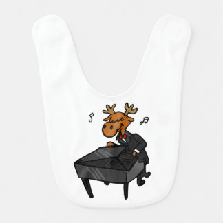 Moose pianist bib