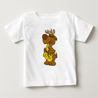 Moose playing the saxophone baby T-Shirt