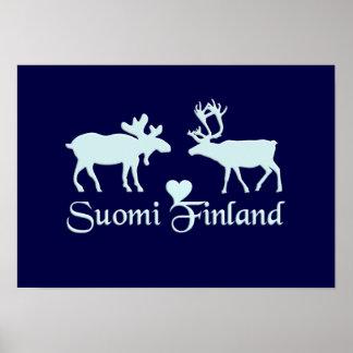 Moose & Reindeer poster