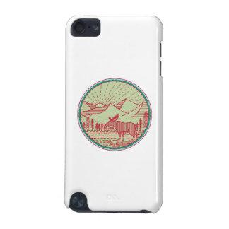 Moose River Mountains Sun Circle Retro iPod Touch 5G Case