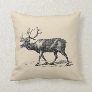 Moose Rustic Farmhouse Style Throw Pillow