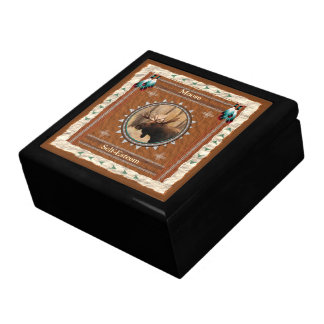 Moose  -Self-Esteem- Wood Gift Box w/ Tile