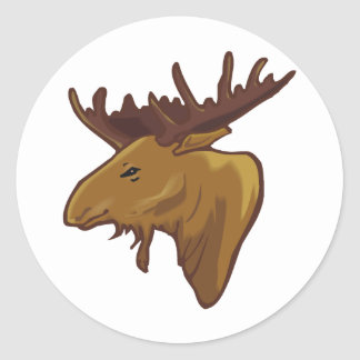 Moose Shirts and Gifts 113 Round Stickers