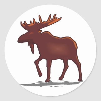 Moose Shirts and Gifts 129 Round Sticker