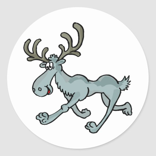 Moose Shirts and Gifts 16 Classic Round Sticker