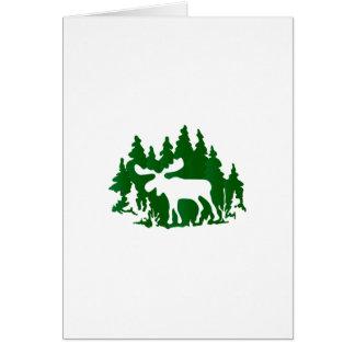 Moose Silhouette Card
