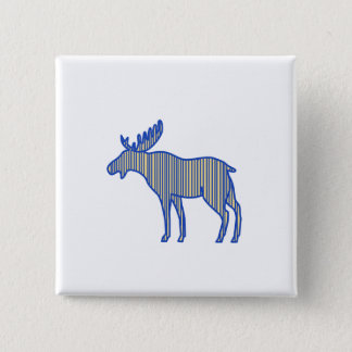 Moose Silhouette Drawing 2 Inch Square Button