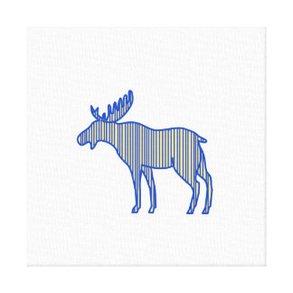 Moose Silhouette Drawing Canvas Print