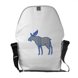 Moose Silhouette Drawing Messenger Bags