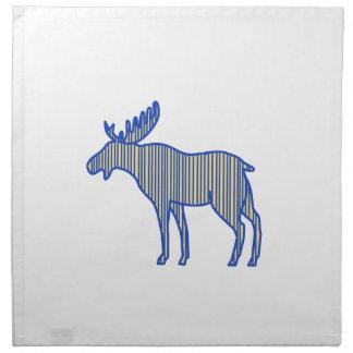 Moose Silhouette Drawing Napkin