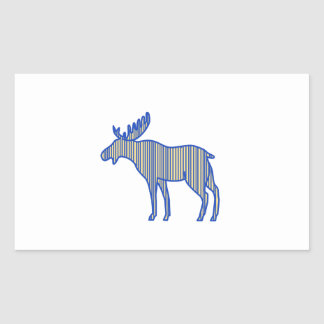 Moose Silhouette Drawing Sticker