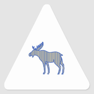 Moose Silhouette Drawing Triangle Sticker