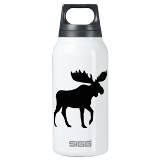 Moose Silhouette Insulated Water Bottle