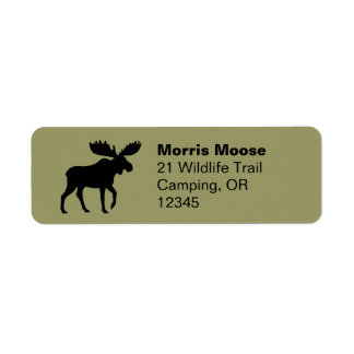 Moose Silhouette Return Address Labels