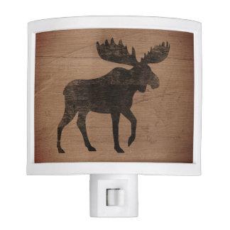 Moose Silhouette Rustic Style Night Lite