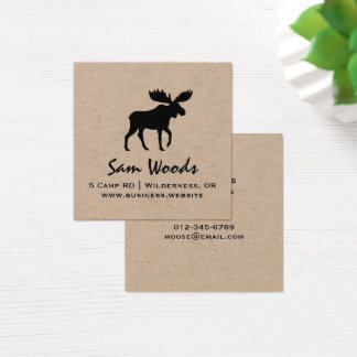 Moose Silhouette Square Business Card