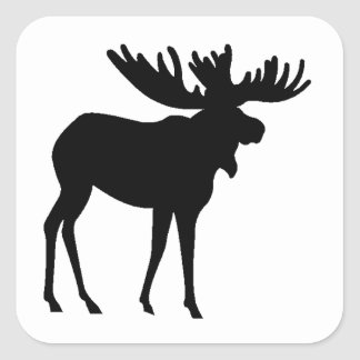 Moose Silhouette Stickers