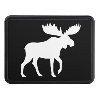 Moose Silhouette Trailer Hitch Cover