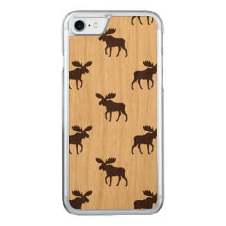 Moose Silhouettes Pattern Carved iPhone 7 Case