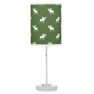 Moose Silhouettes Pattern Table Lamp